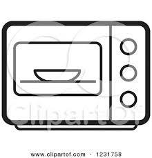 Black And White Microwave Icon by Lal Perera