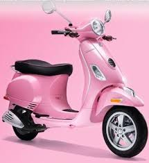 Pink Vespa Scooter