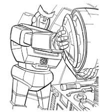 Transformer At Repairing Caught In A Storm Coloring Pages