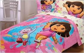 dora the explorer toddler bedding 4 piece set la imagination