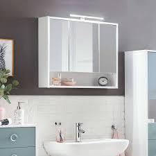 led bad spiegelschrank mit offenem fach spynda
