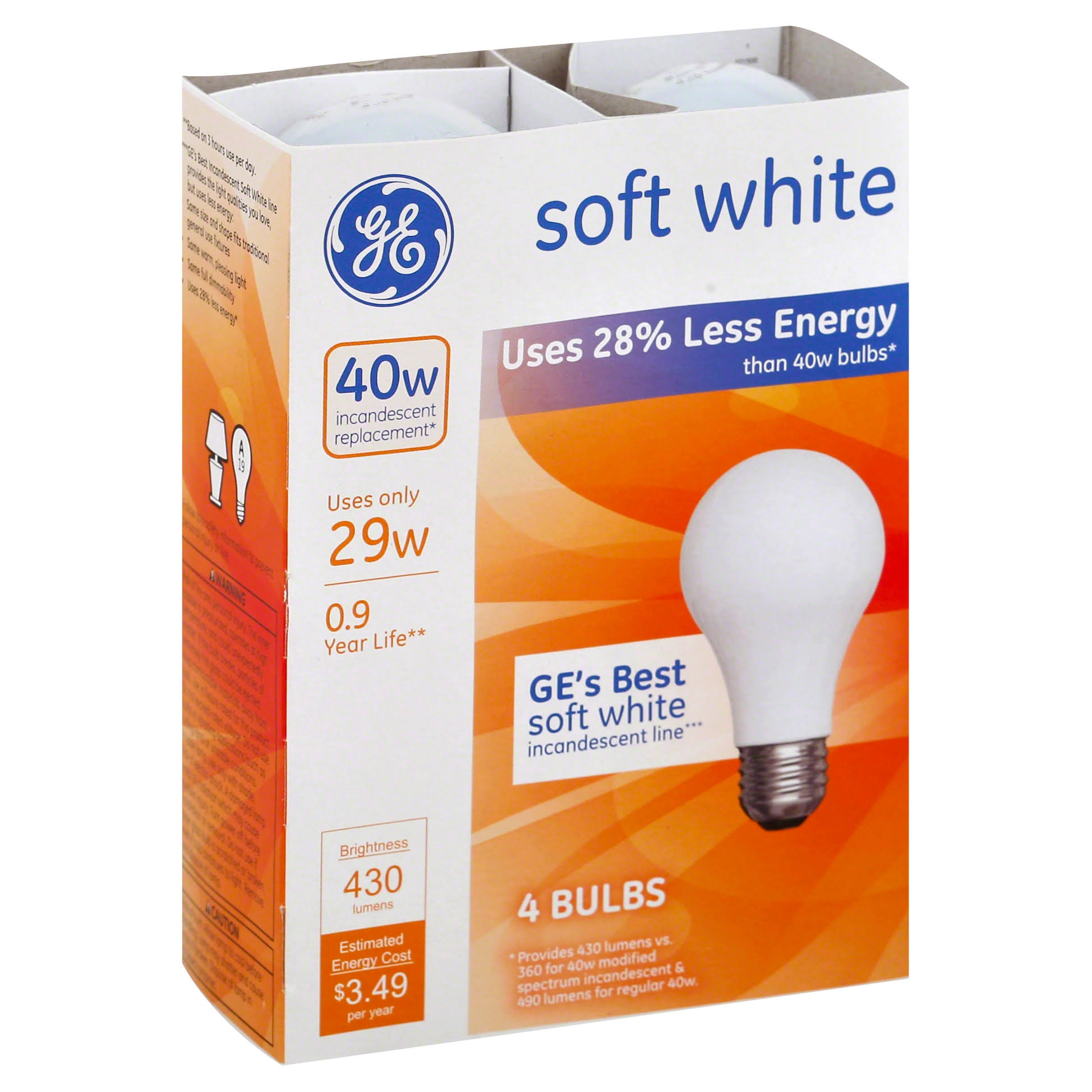 GE Energy Efficient Soft White 29 Watt General Purpose Halogen Bulb
