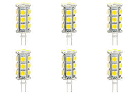 6 pack g4 jc 3 5w 12 volt to 24 volt led capsule light