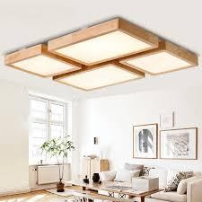 einfache holz led decke lichter rechteckigen platz kreative wohnzimmer schlafzimmer hotel beleuchtung decke len za