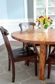 Wood Kitchen Table Plans Free by Round Trestle Dining Table Free Diy Plans Rogue Engineer