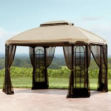 Essential Garden Replacement Canopy For Terrace Gazebo - Outdoor ... Garden Sunjoy Gazebo Replacement Awnings For Gazebos Pergola Winds Canopy Top 12x10 Patio Custom Outdoor Target Cover Best Pergola Your Ideas Amazing Rustic Essential Callaway Hexagon Patios Sears