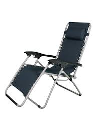 Story@Home Adjustable Folding Lounge Recliner Folding Chair (Navy Blue)