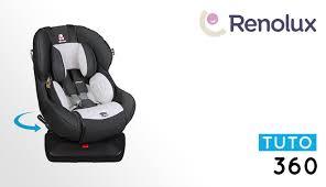 siege auto 360 renolux installation tutorial of 0 1 swivelling car seat 360