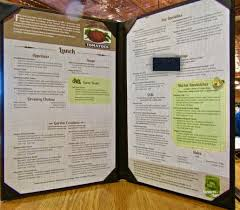 menu with style picture of dobyns dining room point lookout