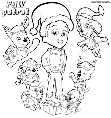 Paw Patrol Coloring Pages Chase Archives Page For Preschool