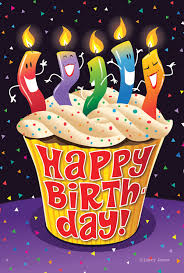 Happy Birthday Cupcake Flag