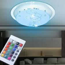 beleuchtung design rgb led decken leuchte glas spiegel