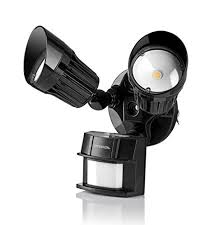 hyperikon led security light black 20w 100w equivalent outdoor