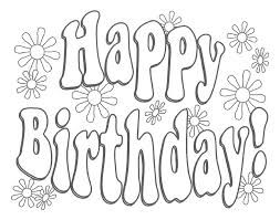 Happy Birthday Printable Coloring Pages For