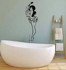 kamar mandi stiker dinding vinyl dinding decal kamar mandi wanita gaya deco adalah dinding yang indah stiker ys27