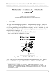 100 Dessa Dutch PDF Mathematics Education In The Netherlands A Guided Tour