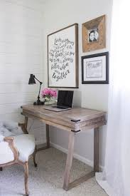 Corner Bedroom Rustic Desk With A White Washed Weathered Wood Finish Similar To RH