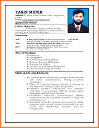 13 Curriculum Vitae Format For Job Application Teacher Bussines And Resume Examples Teachers Samples