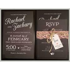 Black White Rustic Wedding Invitation