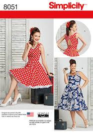 simplicity 8051 misses and plus size dresses
