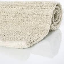 badematte badteppich badezimmerteppich baumwolle einfarbig creme elfenbein ivory