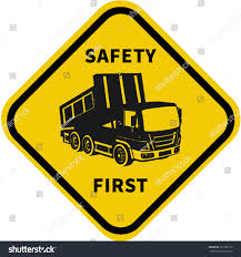 100 Signs For Trucks Truck Safety Driver Construction Worker Checking Truck Stock Vector