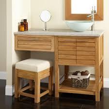 Bath Vanities With Dressing Table by Bathroom Vanity With Makeup Area Vanities Unfinished Bathroom