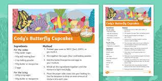 The Cautious Caterpillar Codys Butterfly Cupcake Recipe