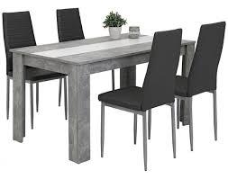 5 teiligetischgruppe helene beton optik grau ca 140 x 80 cm