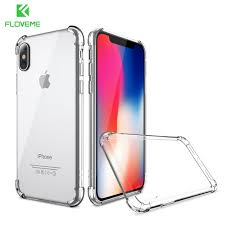 FLOVEME For iPhone X 2017 New Luxury Case Transparent Clear