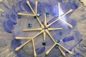 Simple Striking Snowflake Crafts For Kids
