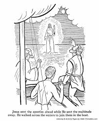 Jesus Teaches Coloring Pages P11 Walks On The Water