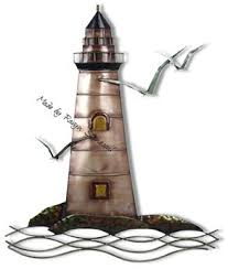 Second Life Marketplace Lighthouse Metal Wall Decor