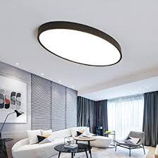 modern oval deckenleuchte zeitgenössisch minimalismus led