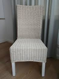 stuhl rattanstuhl korbgeflecht esszimmer weiß