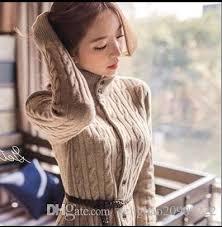 2018 Sweater Cardigan 2017 Winter Korean Vintage Slim Long Sweater