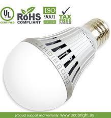 ecobright 16w 1500 lumen non dimmable led light bulb warm white