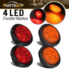 100 Truck Clearance Lights Amazoncom Partsam 2 Amber 2 Red Trailer 25 Round Side