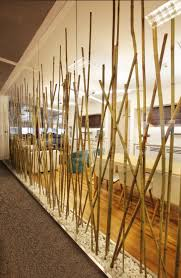 100 Bamboo Walls Ideas Partition Made Of Poles From Turkcell Maltepe Plaza