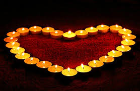 Candles Heart Flame Love Valentine Romance