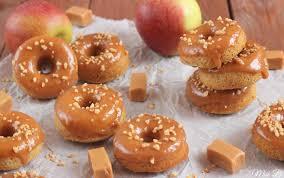 apfel karamell donuts aus dem backofen