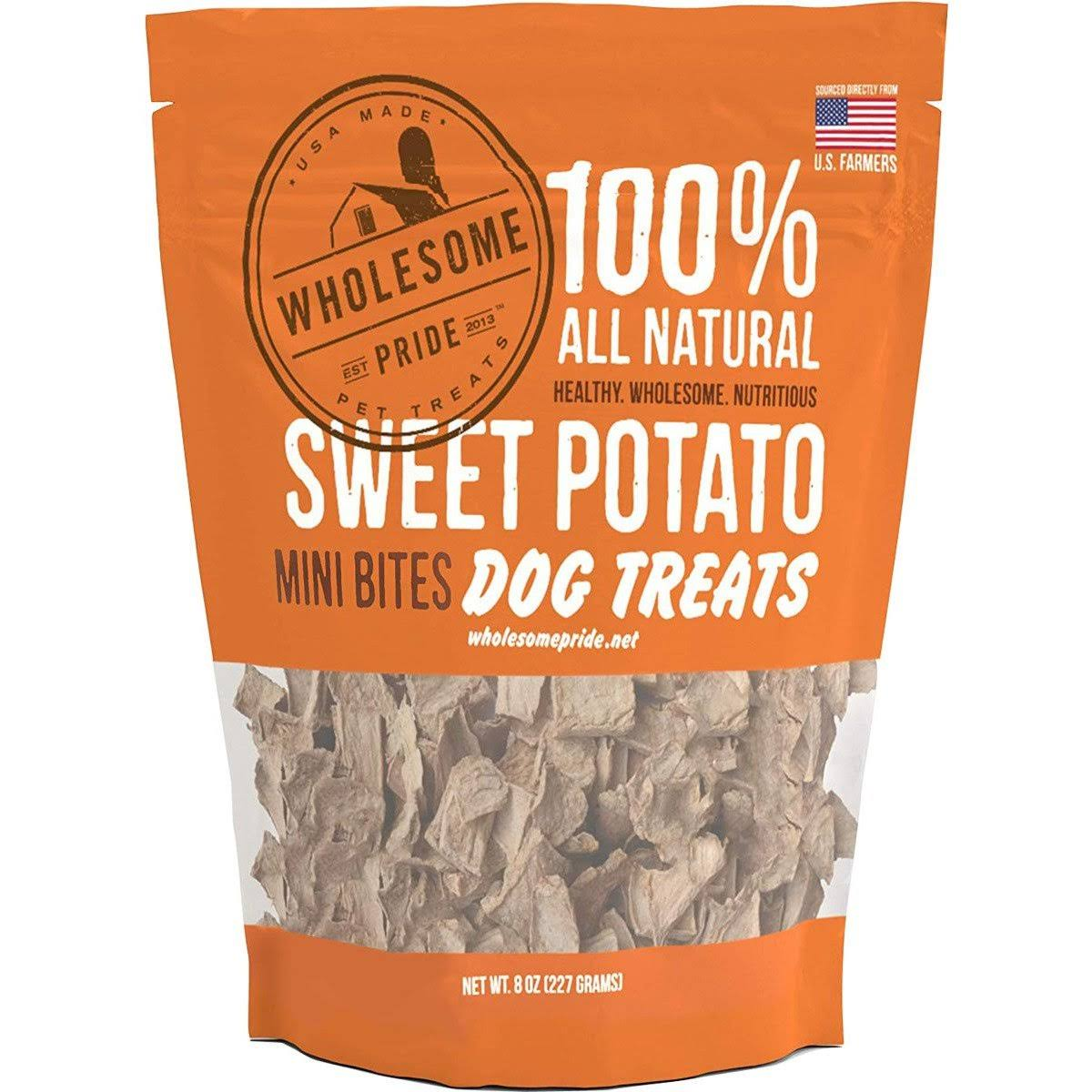 Wholesome Pride Sweet Potato Mini Bites Dog Treats - 8 oz
