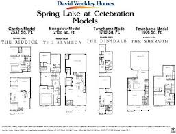 David Weekley Floor Plans 2007 by Celebration Florida Real Estate Search All The Greater Orlando
