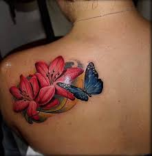 41 Extremely Beautiful Butterfly Tattoos On Back For Girls