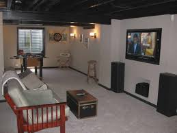 cute unfinished basement ceiling ideas good unfinished basement