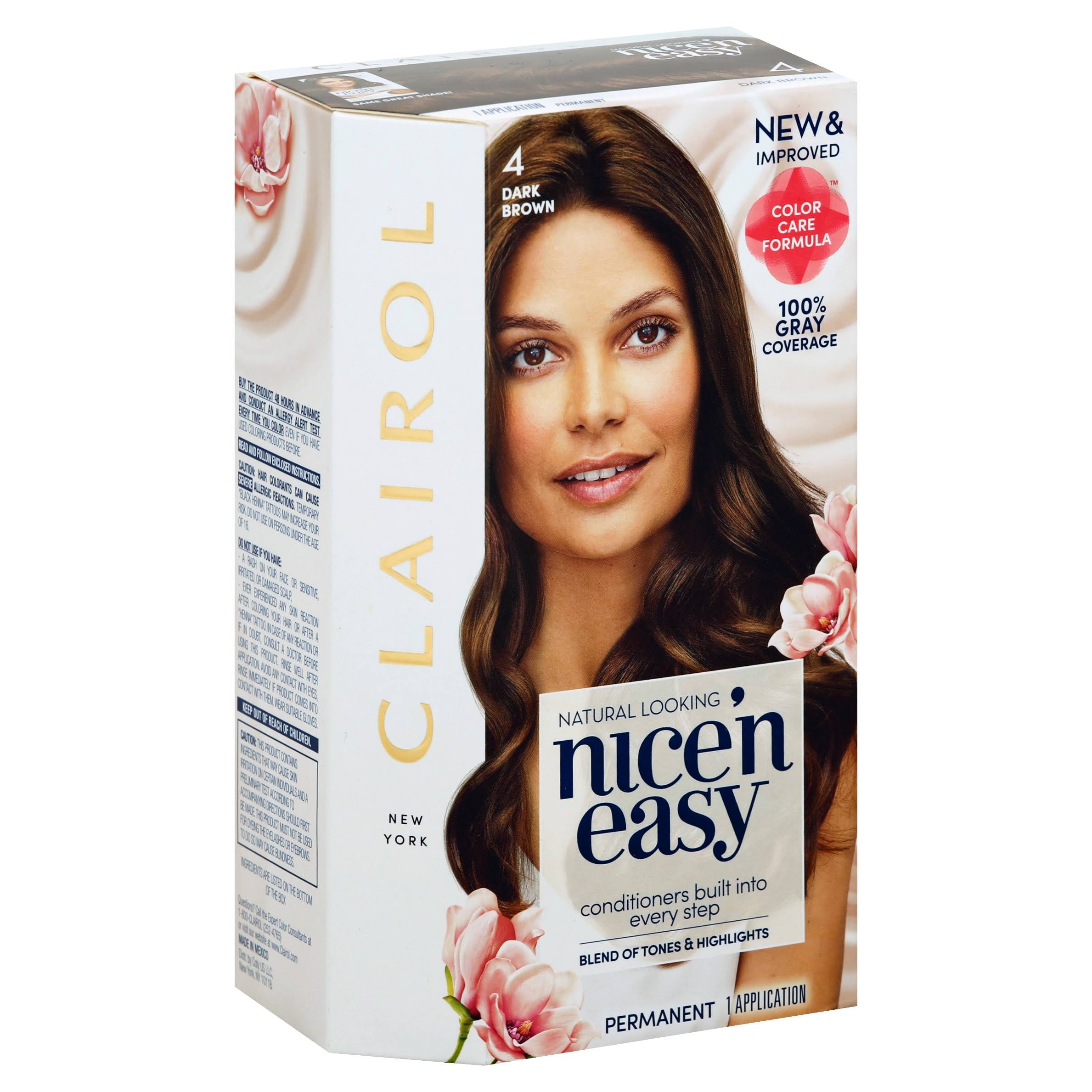Clairol Nice 'n Easy Permanent Hair Color - 4 Dark Brown