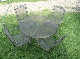 Vintage Homecrest Patio Table by Wrought Iron U0026 Steel Outdoor Furniture