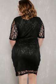 wine black two tone short sleeves lace plus size party dress
