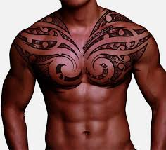Custom Design Of Full Back Tribal Ray Tattoo For Men