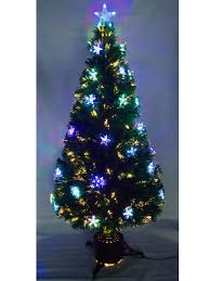 3ft Christmas Tree Pre Lit by Fibre Optic Christmas Trees Homcom 5ft Green Fibre Optic